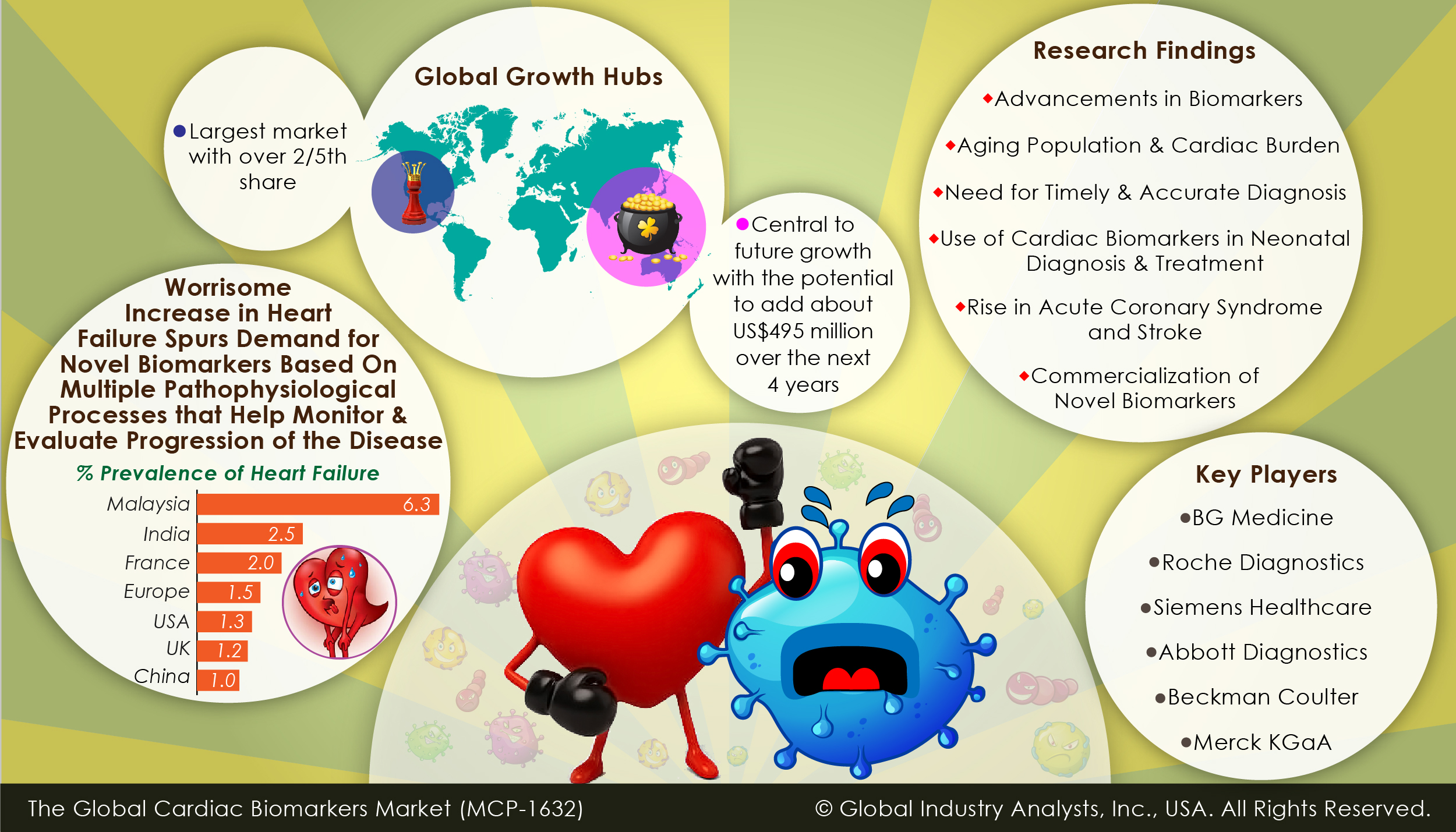 global cardiac biomarkers market 2014 2018 Global cardiac biomarker market research report provides a professional and in-depth study of the major cardiac biomarker industry leading players along with the.