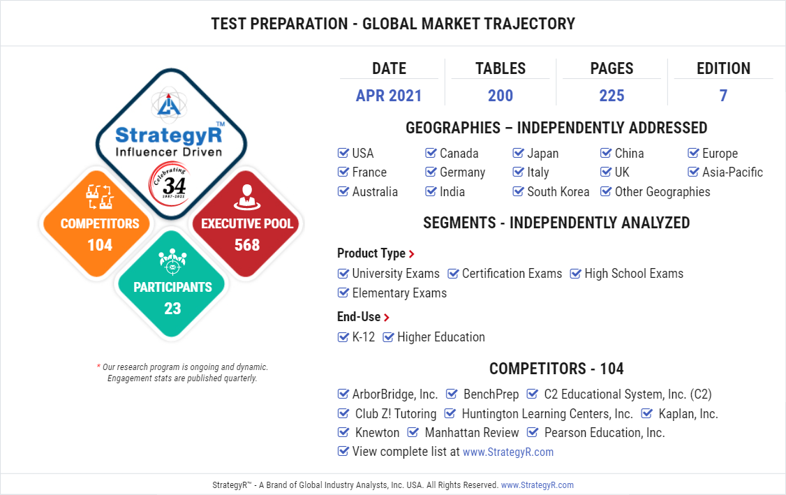 Test Preparation   Market Study by Global Industry Analysts, Inc.